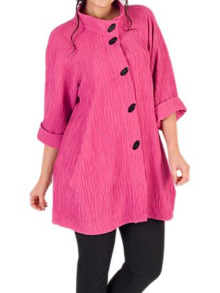 Chesca Textured Jacquard Coat, Rose Pink