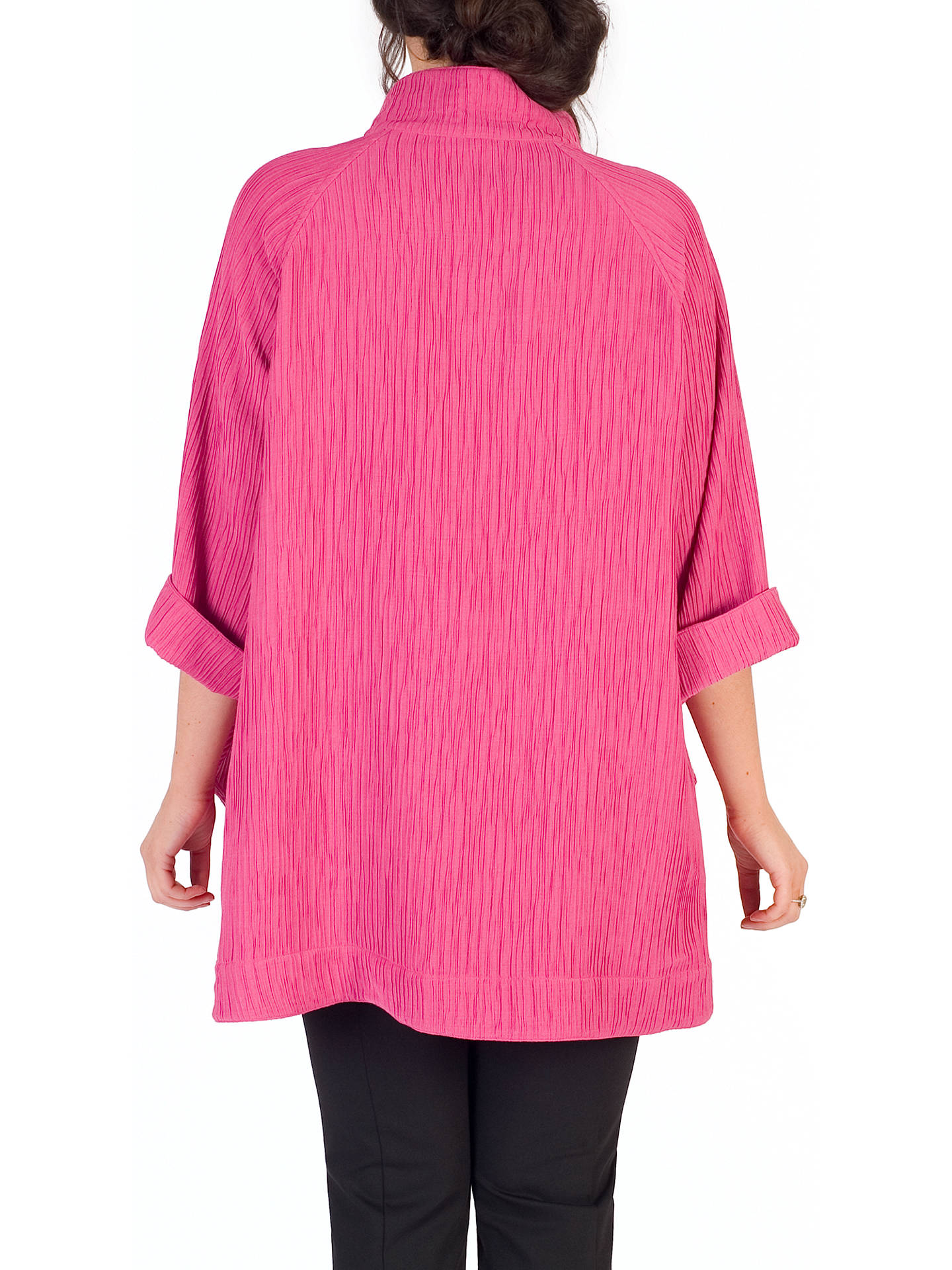 BuyChesca Textured Jacquard Coat, Rose Pink, 12-14 Online at johnlewis.com