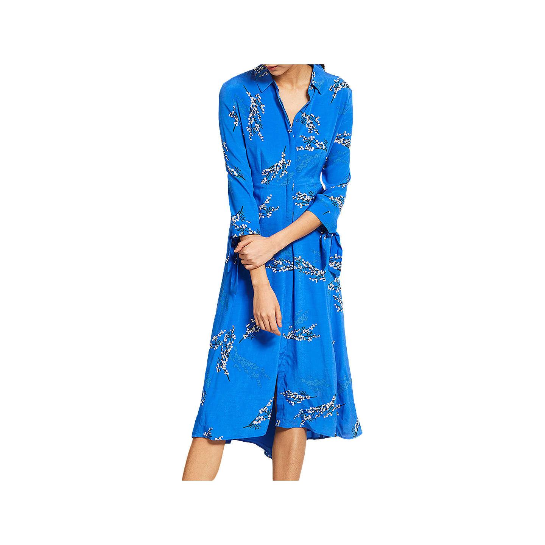 Mint Velvet Blossom Print Shirt Dress Multi at John Lewis