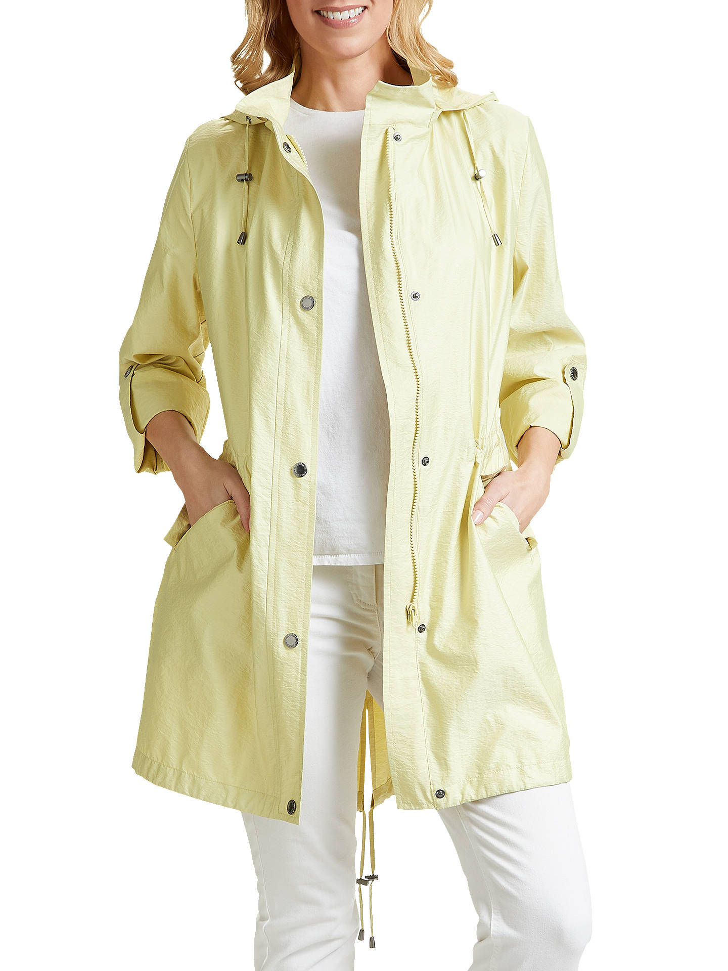 ffaae1d89a9 Buy Four Seasons Lightweight Hooded Parka Coat, Citrus, XS Online at  johnlewis.com ...