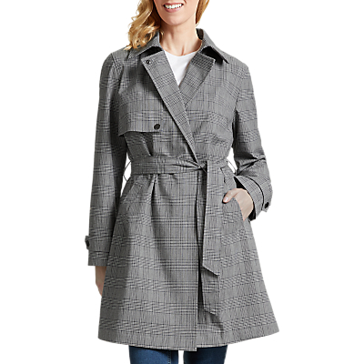 Four Seasons Stud Detail Trench Coat, Grey