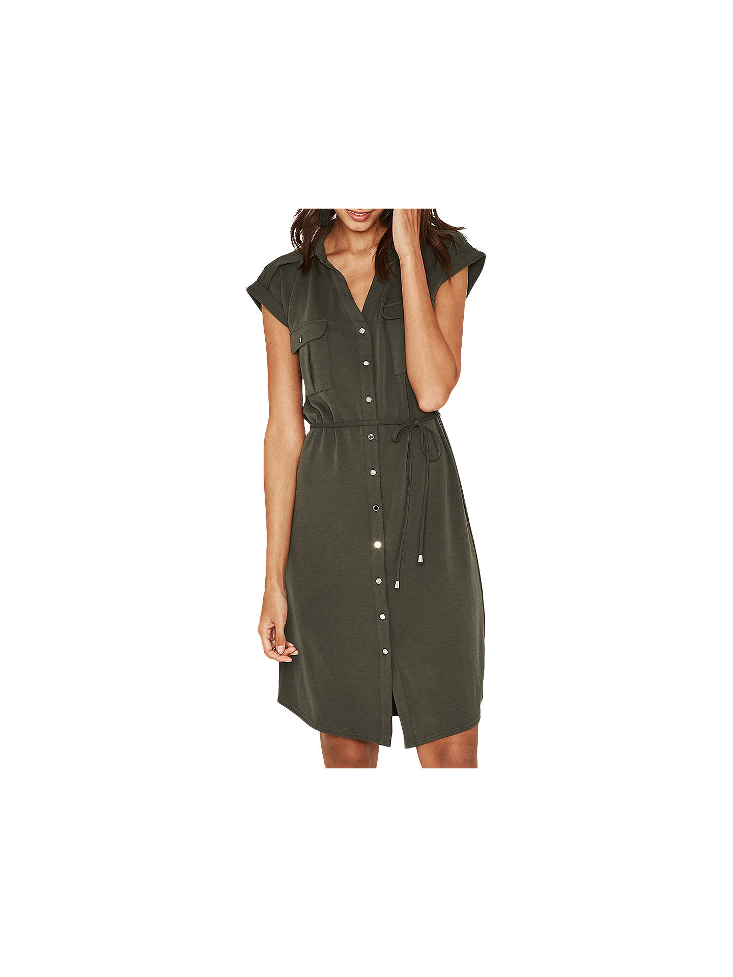 31748c34cb82 Buy Oasis Shirt Dress, Khaki, XS Online at johnlewis.com ...