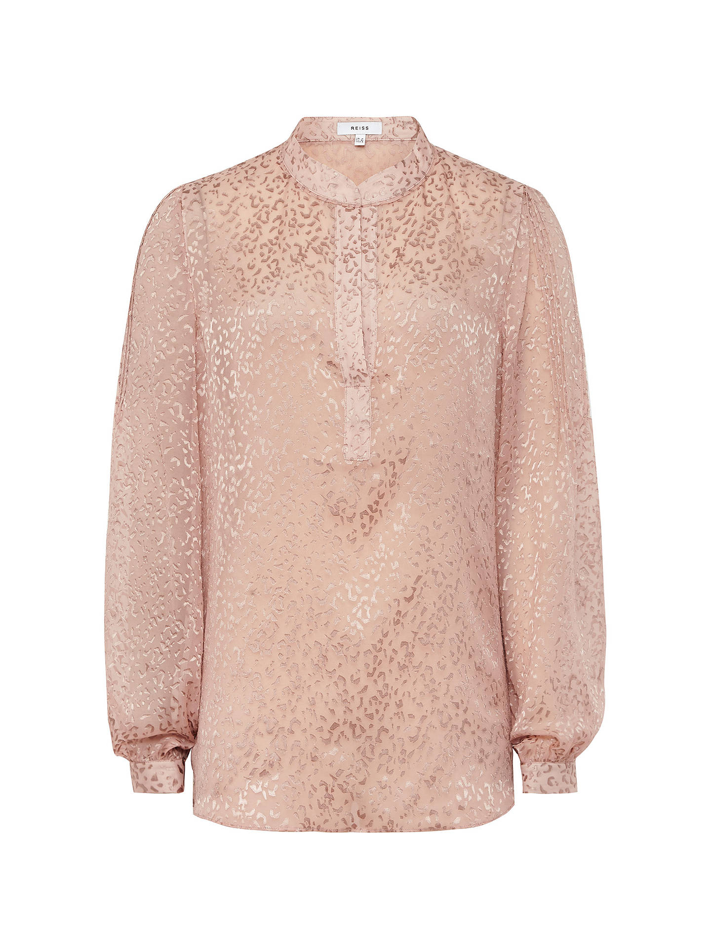 802cb223121271 ... Buy Reiss Brie Animal Burnout Blouse, Pink, 6 Online at johnlewis.com  ...