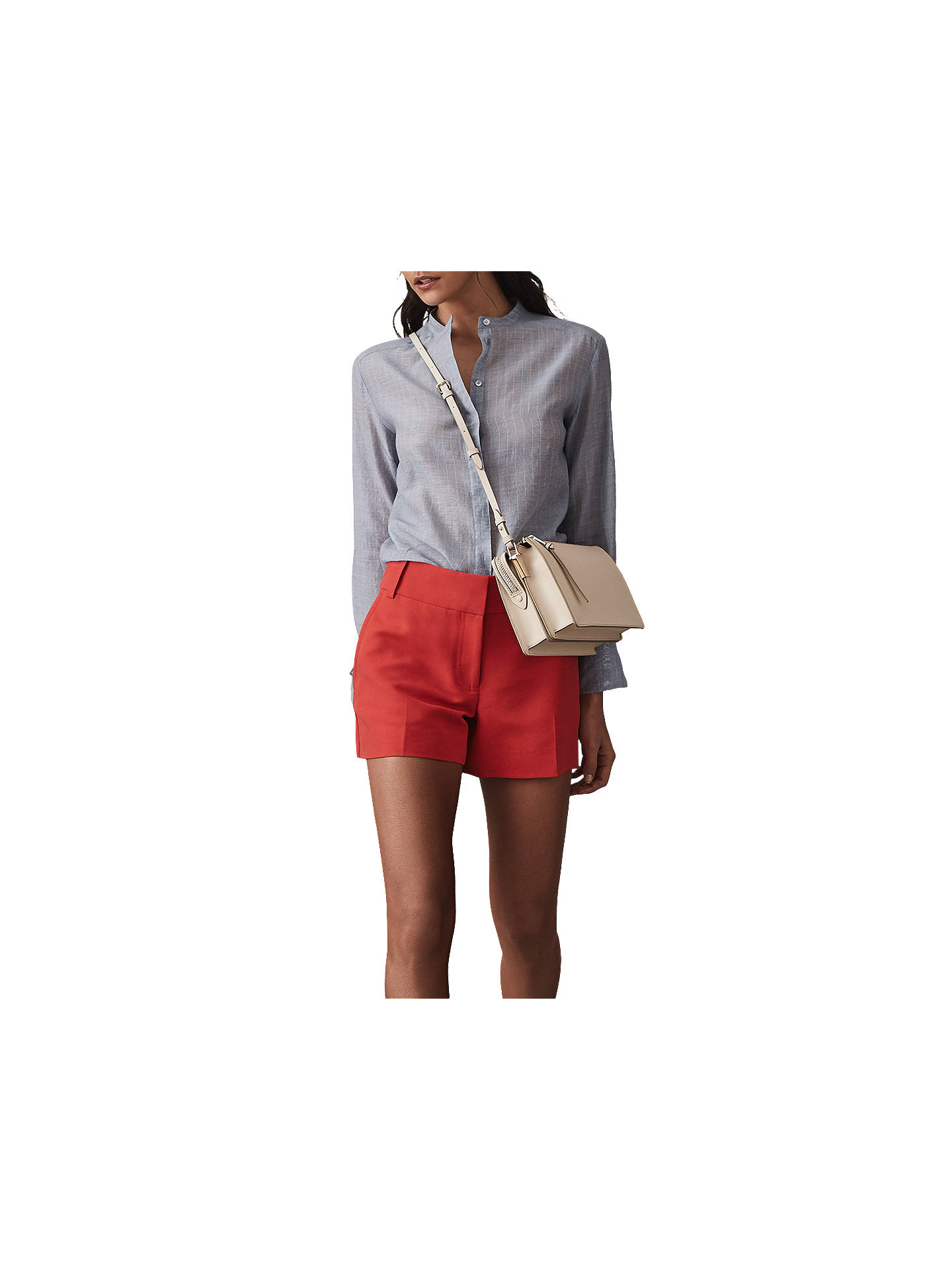 Buy Reiss Lyla Smart Shorts, Red, 12 Online at johnlewis.com