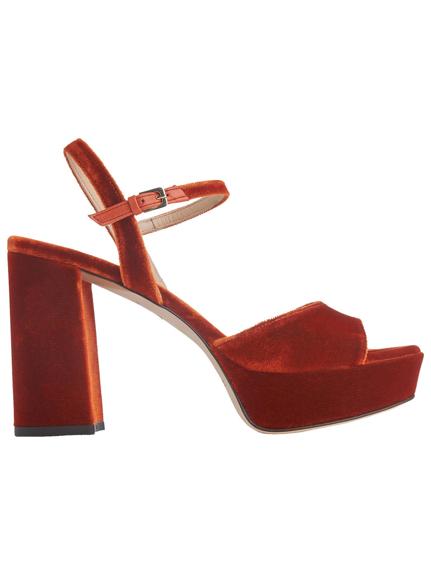 b6b0f5a9df4 L.K.Bennett Henie High Block Heel Sandals at John Lewis & Partners