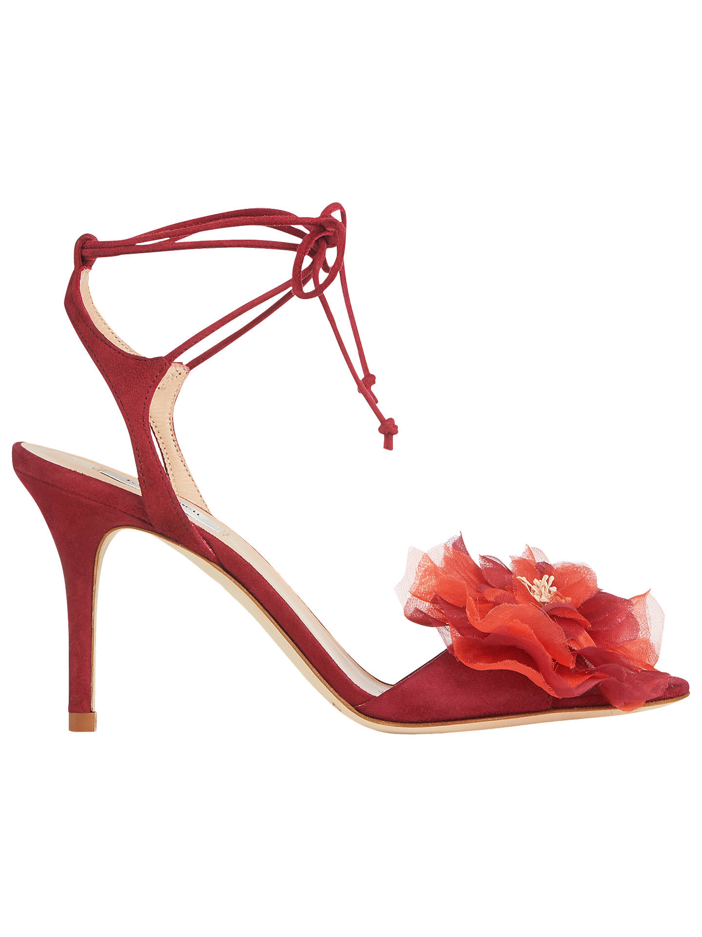 2c594fcf64caaf L.K.Bennett Scarlet Floral Embellished Stiletto Heel Sandals at John ...