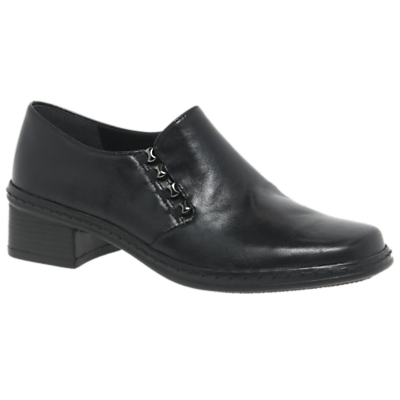 Gabor Hertha Low Block Heel Leather Loafers