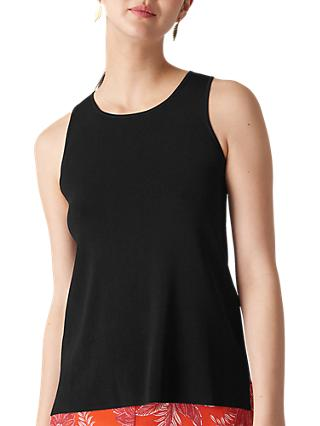 Whistles Swing Back Knit Tank Top, Black