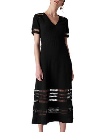 Whistles Elisa Lace Detail Midi Dress e9dbe8247