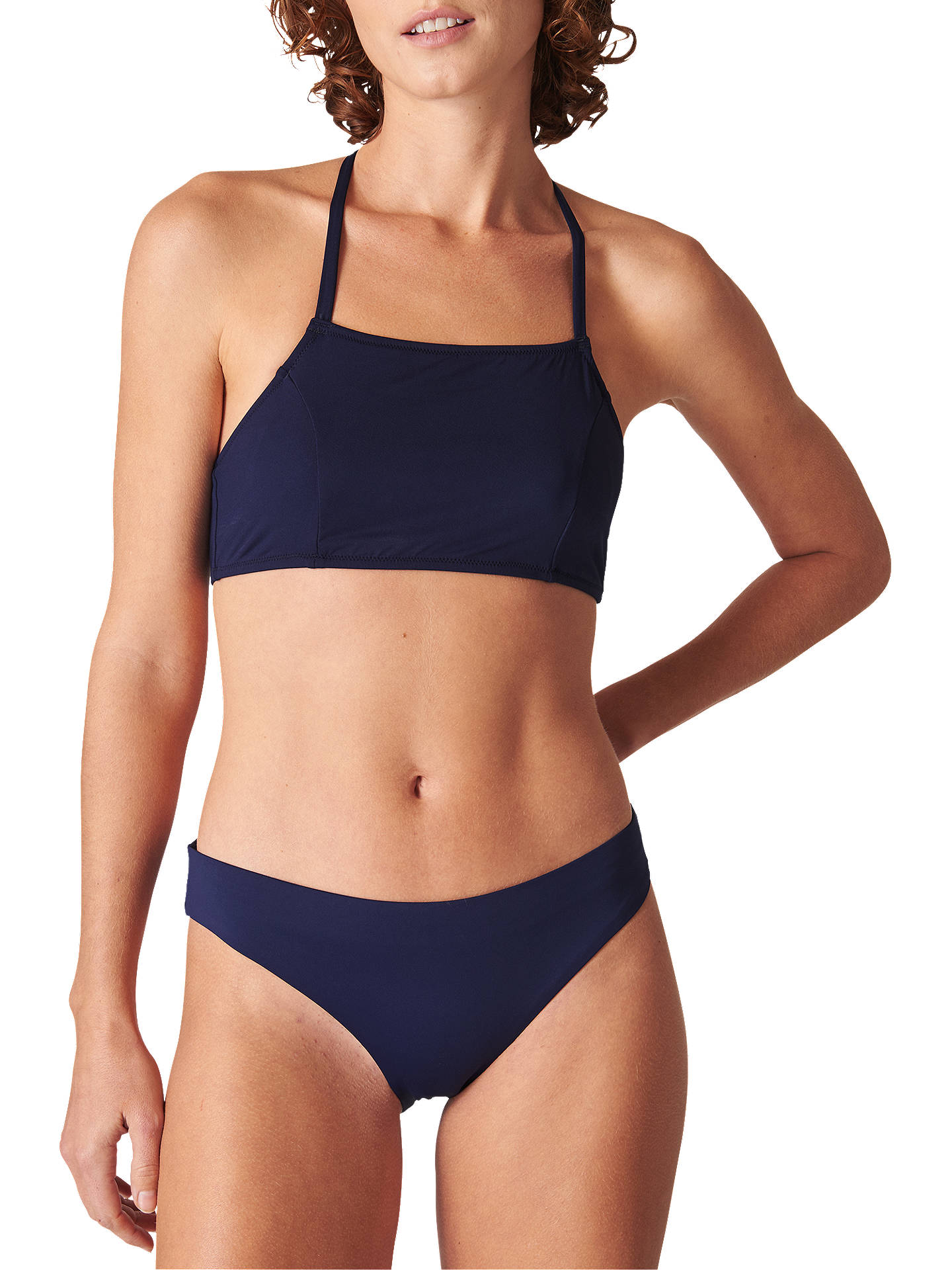 3889a38617169 Buy Whistles Pippa Minimal Bikini Top, Navy, 6 Online at johnlewis.com ...