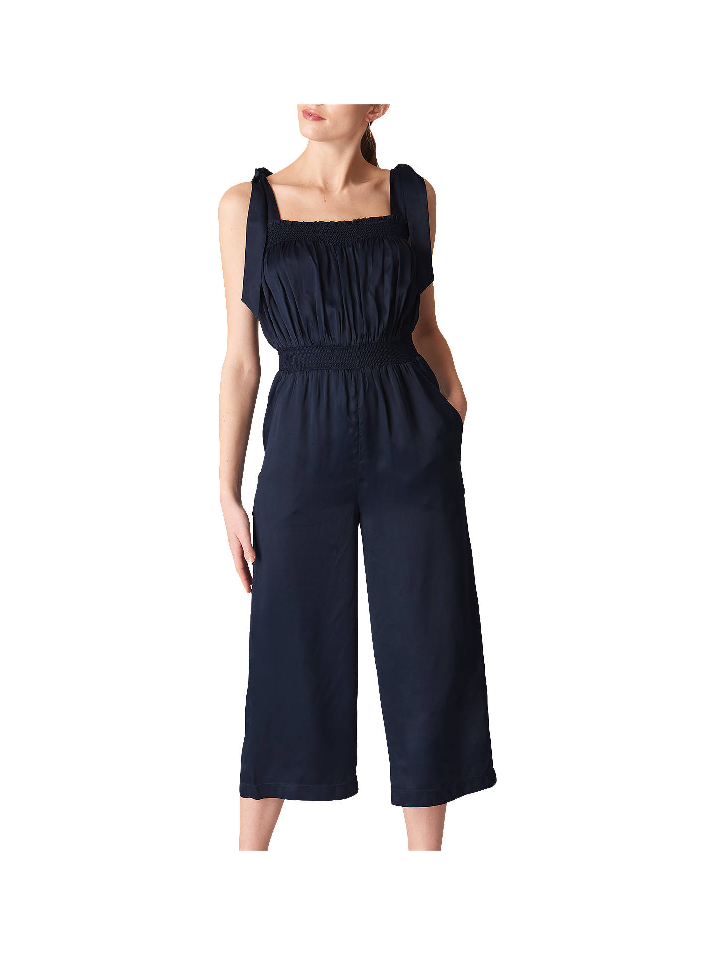 22bb3e6db8e Whistles Ally Tie Shoulder Jumpsuit at John Lewis   Partners