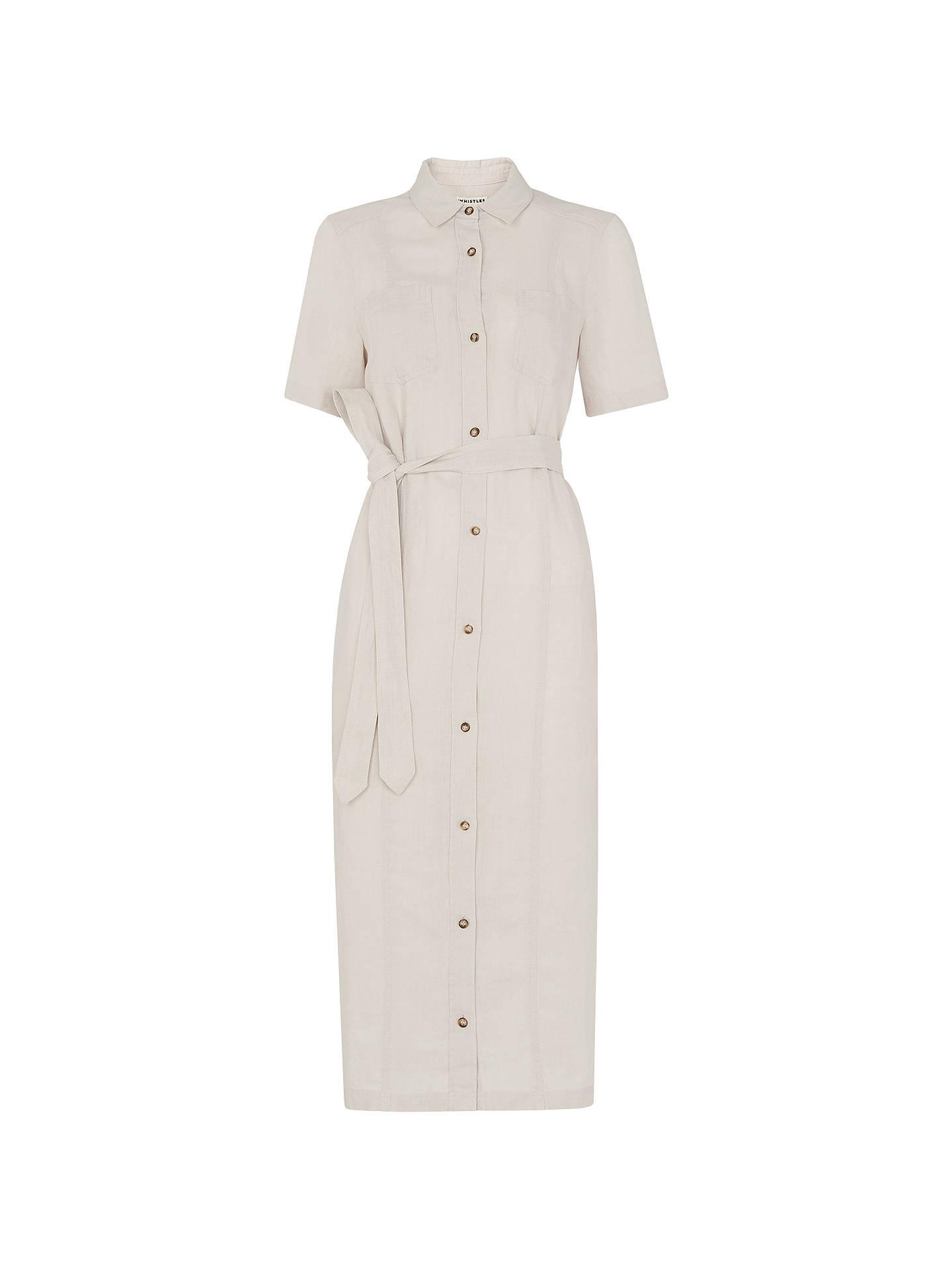 ae7147c9271 ... Buy Whistles Bella Linen Shirt Dress