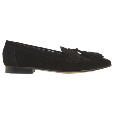 Dune Black Golfe Tassel Loafers