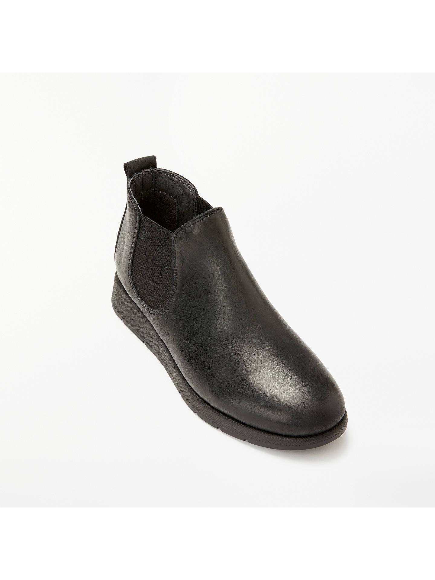 Buy John Lewis & Partners Designed for Comfort Yasmin Chelsea Boots, Black Leather, 4 Online at johnlewis.com