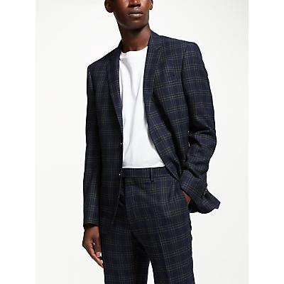 Kin Check Slim Fit Suit Jacket, Navy