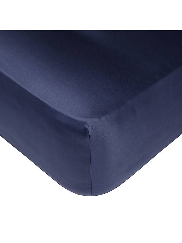Buy John Lewis & Partners Egyptian Cotton 1000 Thread Count Fitted Sheet, Sapphire, Double Online at johnlewis.com