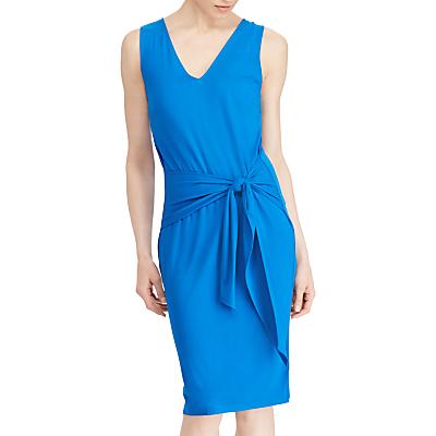 Lauren Ralph Lauren Agita Tie Belt Dress, Vivid Cyan