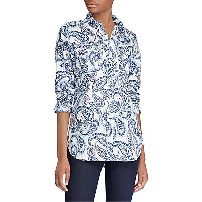 Lauren Ralph Lauren Courtenay Paisley Print Cotton Shirt