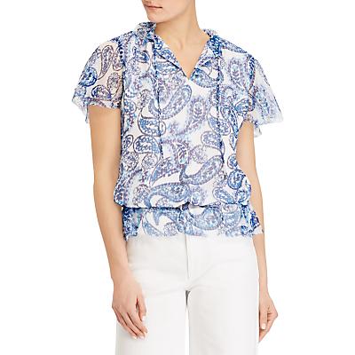 Lauren Ralph Lauren Danamarie Sheer Paisley Georgette Shirt, Multi