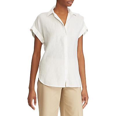 Lauren Ralph Lauren Broono Boyfriend Linen Shirt, White