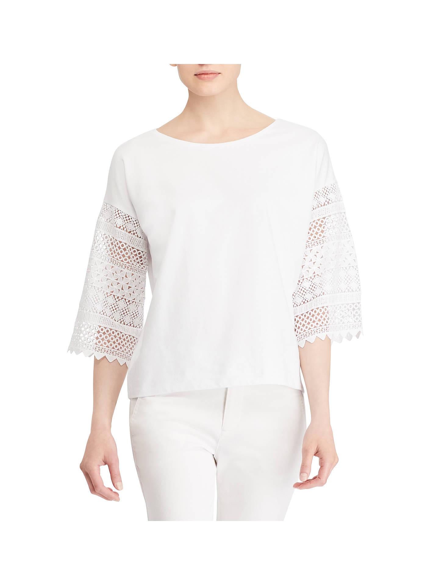 bbfd8963e0e686 Buy Lauren Ralph Lauren Kraysha Lace Bell Sleeve Cotton Blouse
