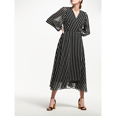 Marella Rinalda Stripe Dress, Black