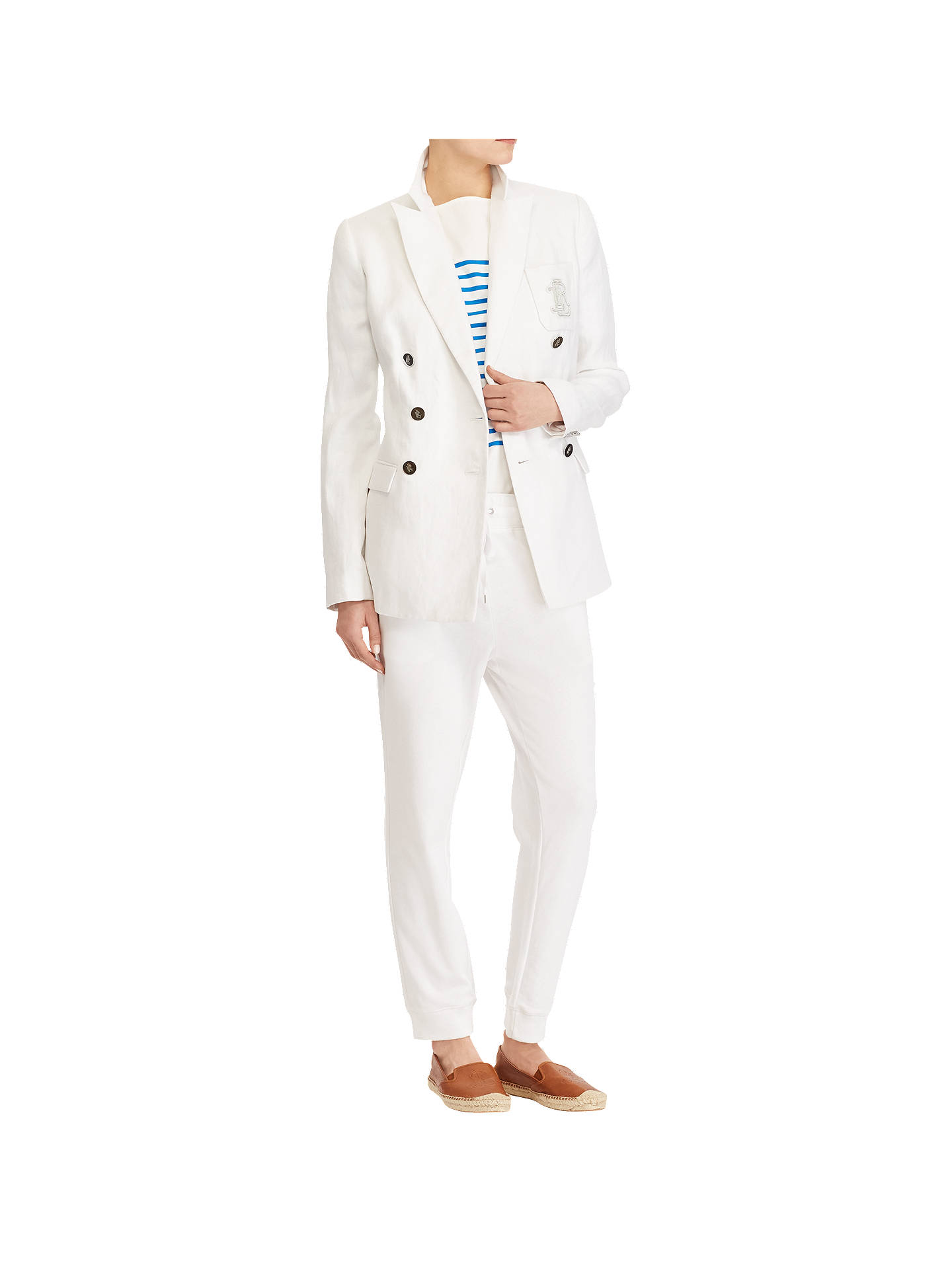 Buy Polo Ralph Lauren Vinnazzo Jacket, White, 10 Online at johnlewis.com