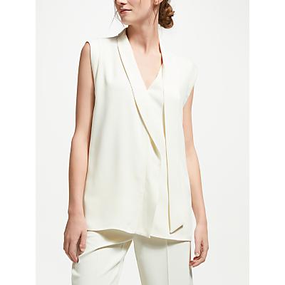Marella Bric Sleeveless Tie Top, Wool White