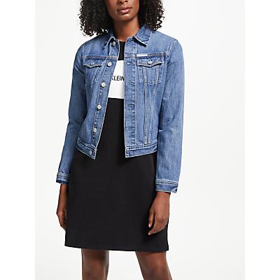 Calvin Klein Clean Line Trucker Denim Jacket, Lyon Blue