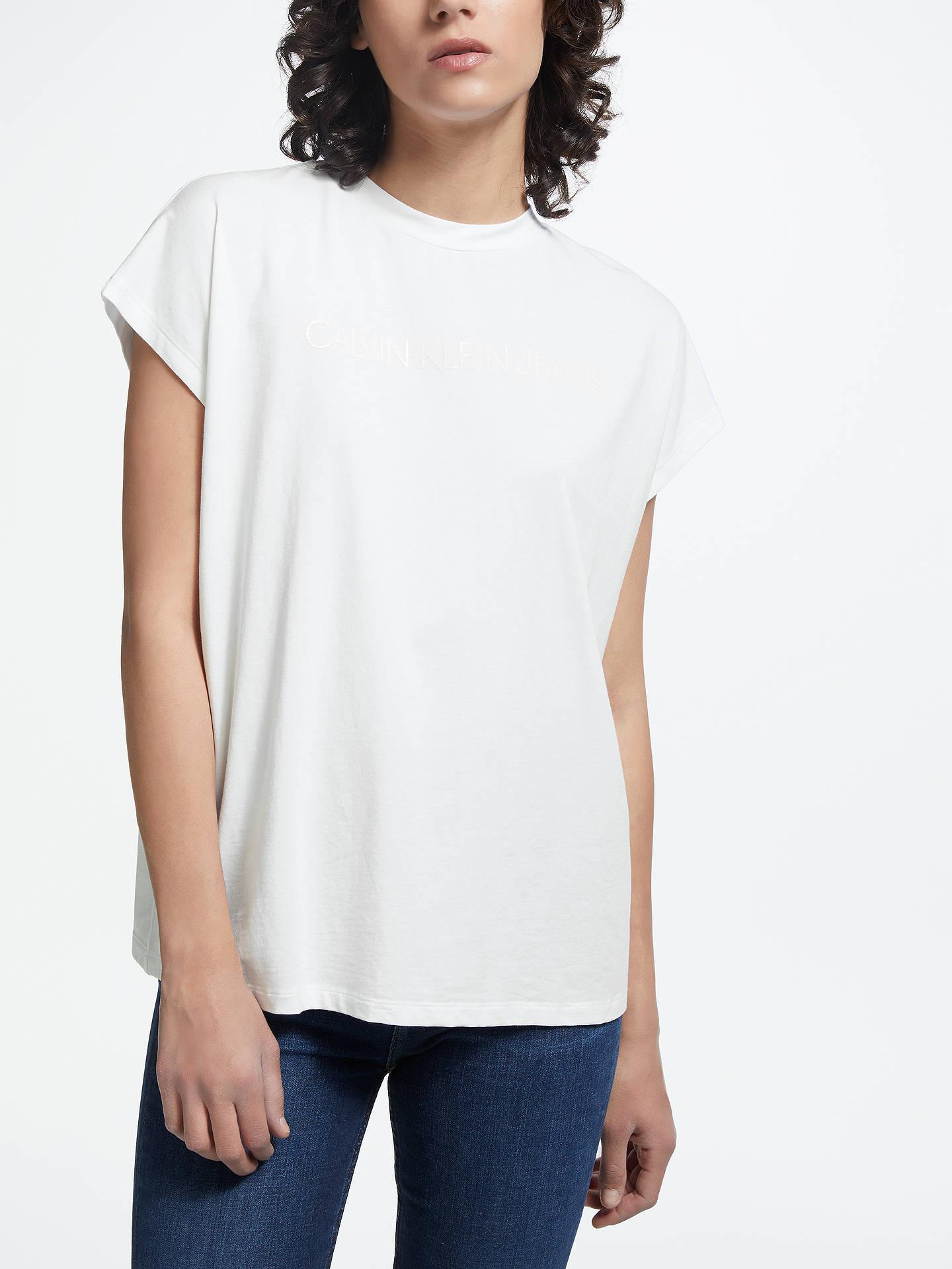 464021560f26 Buy Calvin Klein Institutional Vinyl Logo Muscle T-Shirt