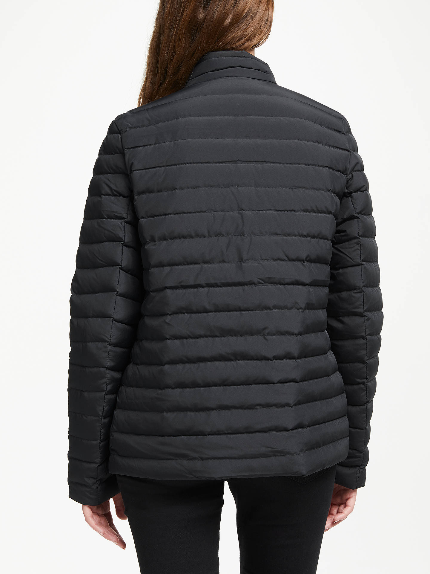 Buy Calvin Klein Reversible Padded Down Jacket, Black/White, XS Online at johnlewis.com