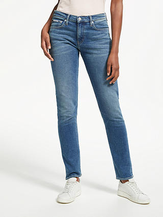 Buy Calvin Klein Mid Rise Slim Jeans, Chico Blue, W27/L30 Online at johnlewis.com