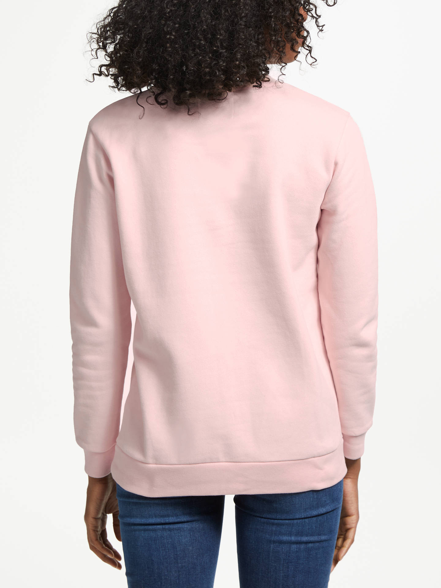 BuyCalvin Klein Logo Sweatshirt, Chintz Rose, XS Online at johnlewis.com