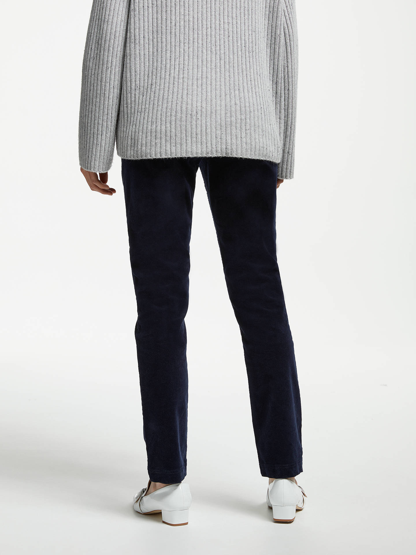 BuyJohn Lewis & Partners Cord Straight Leg Jeans, Navy, 8 Online at johnlewis.com