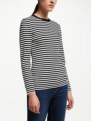 John Lewis & Partners Stripe Crew Neck Sweater