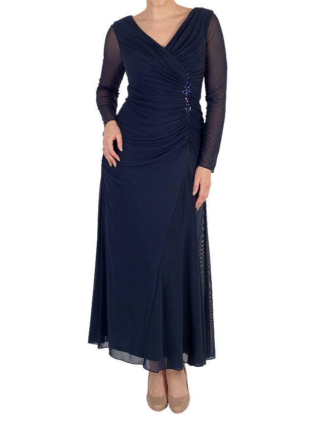 Buy Chesca Trim Mesh Dress, Navy, 12 Online at johnlewis.com