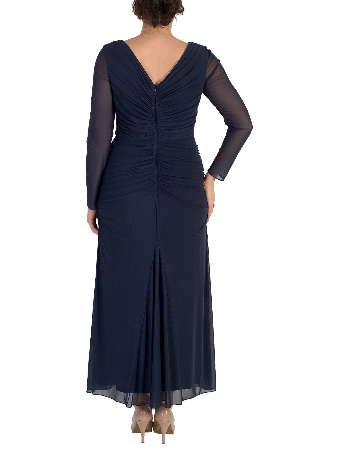 BuyChesca Trim Mesh Dress, Navy, 12 Online at johnlewis.com