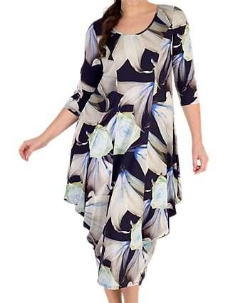 Chesca Printed Jersey Dress, Multi
