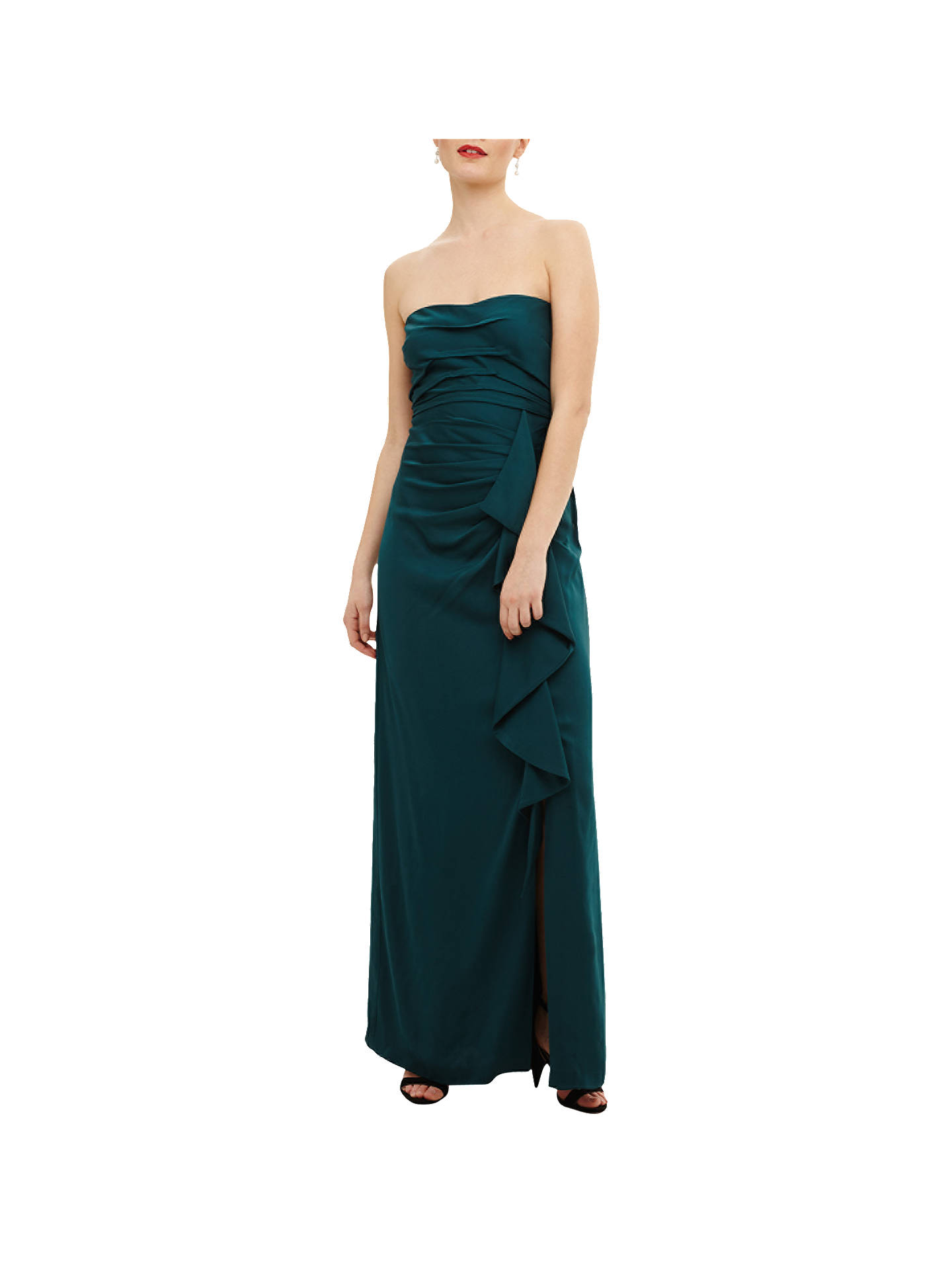 Buy Phase Eight Collection 8 Nina Frill Maxi Dress, Teal, 10 Online at johnlewis.com