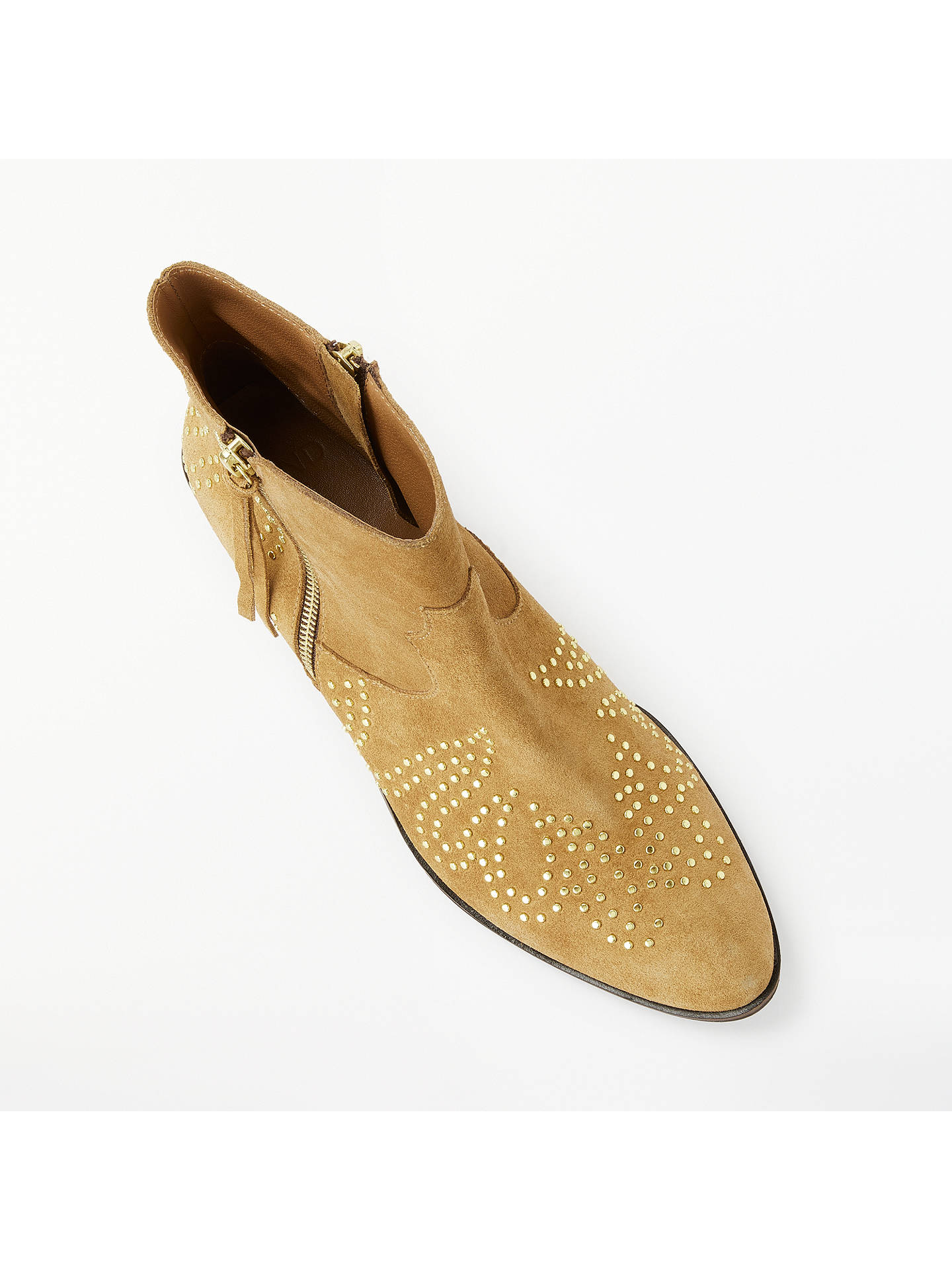 BuyAND/OR Paloma Studded Suede Ankle Boots, Tan Suede, 4 Online at johnlewis.com