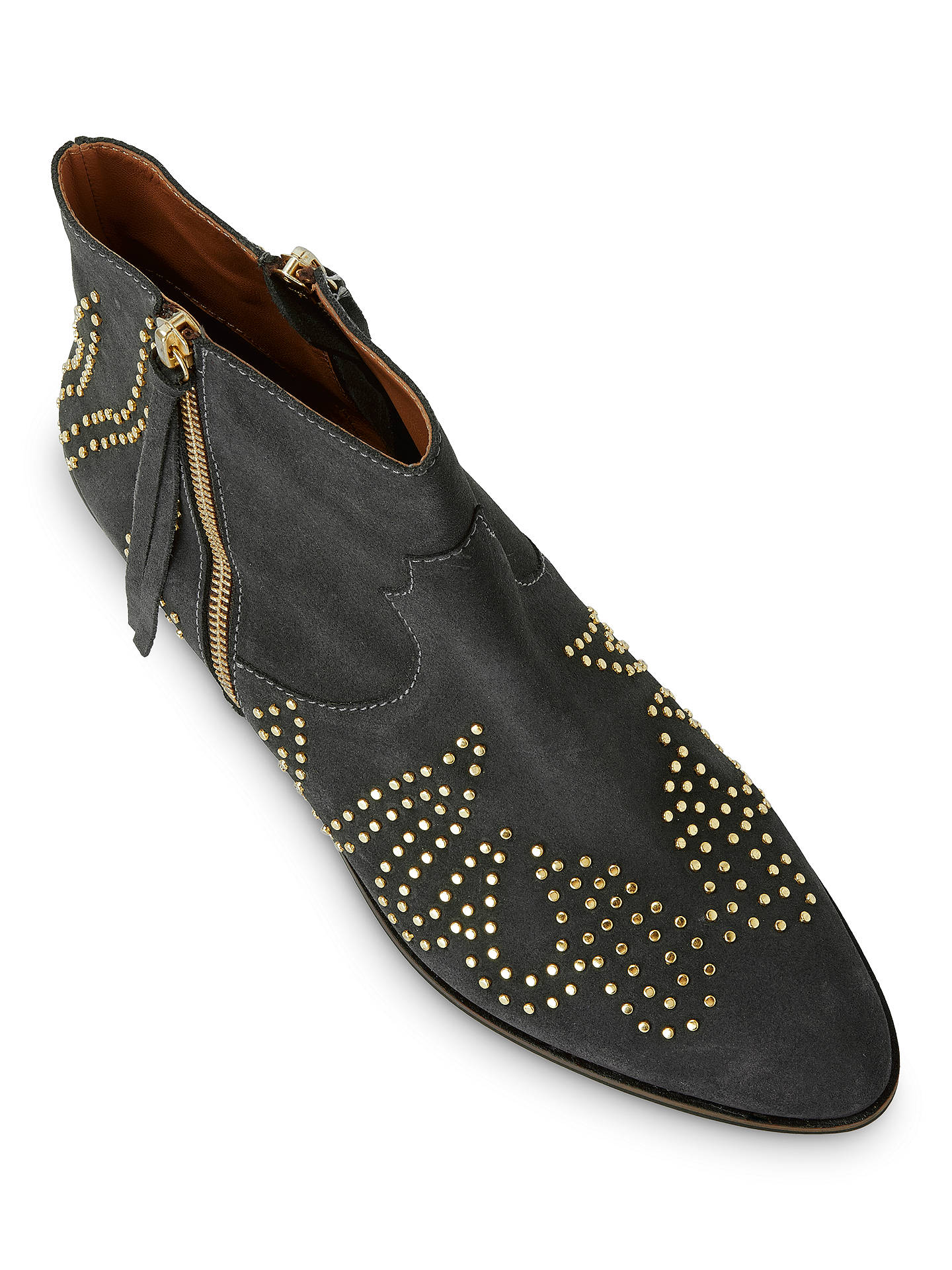 BuyAND/OR Paloma Studded Suede Ankle Boots, Grey Suede, 4 Online at johnlewis.com