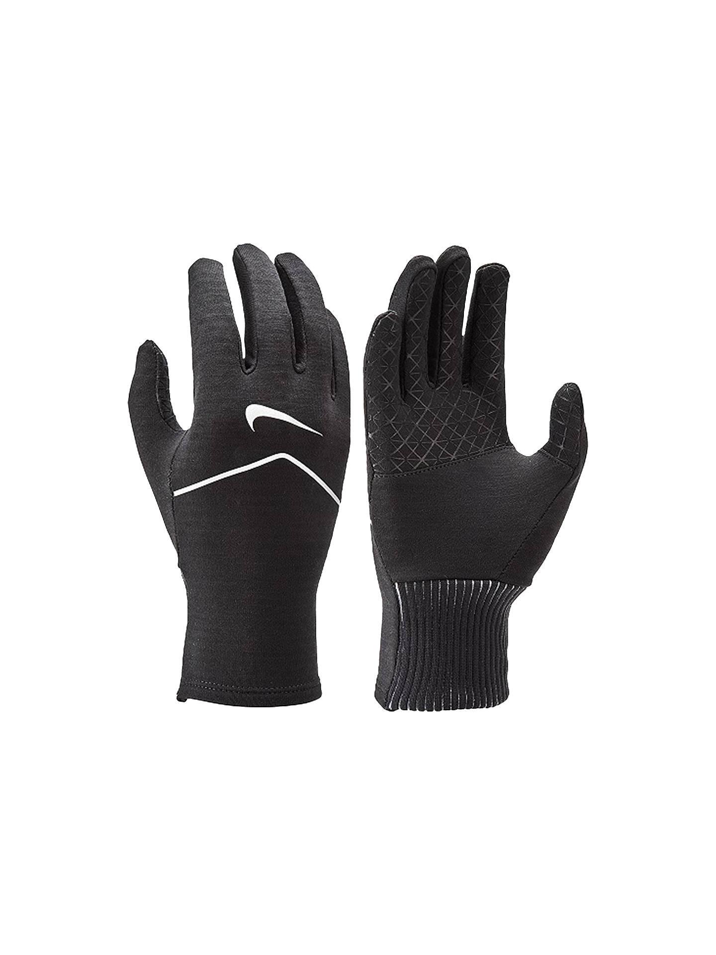 sale retailer aea98 abe3b Buy Nike Women s Sphere Running Gloves, Black Silver, S Online at johnlewis.