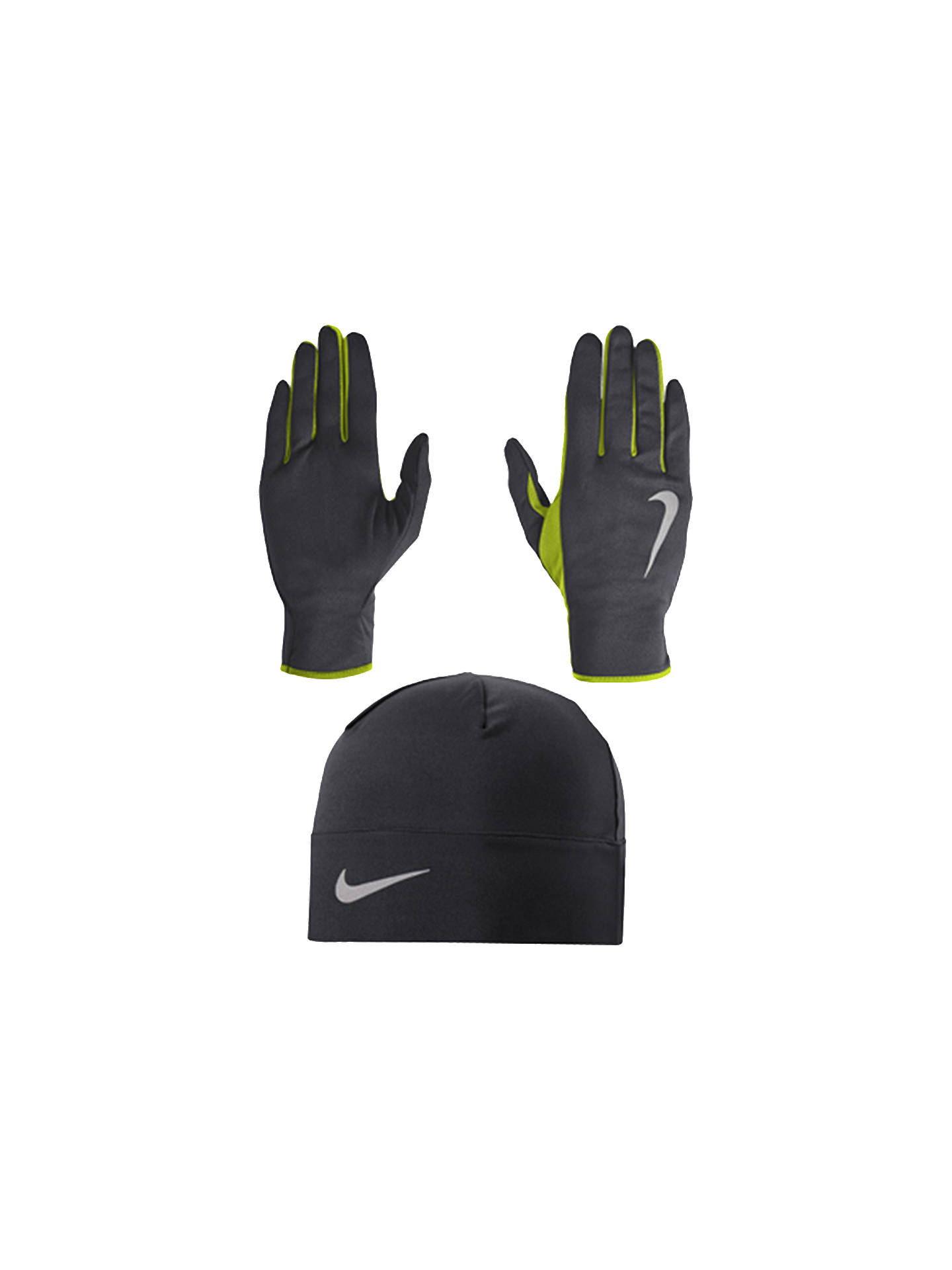 new product 66f4f f643e Buy Nike Dri-Fit Men s Running Beanie Hat and Glove Set, Athracite Volt
