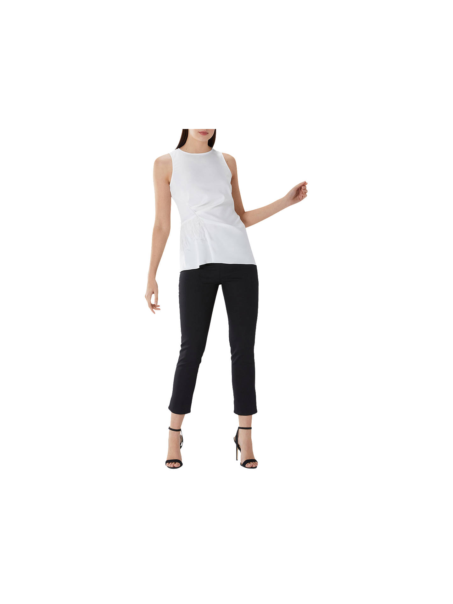 8757db632f946b ... Buy Coast Follie Feather Top, Ivory, 6 Online at johnlewis.com ...