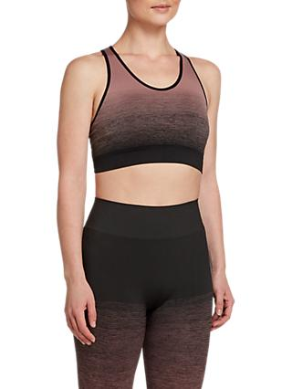 Pepper & Mayne Ombre Compression Sports Bra, Pink Rose