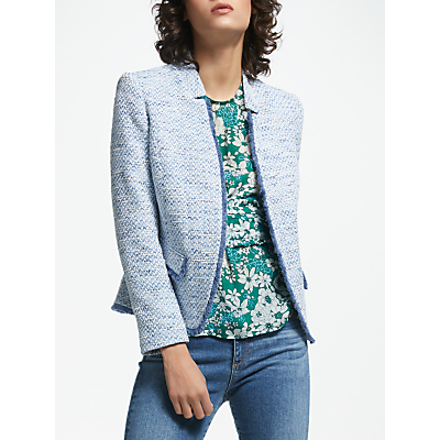 Helene For Denim Wardrobe Amelia Notch Collar Jacket, Blue