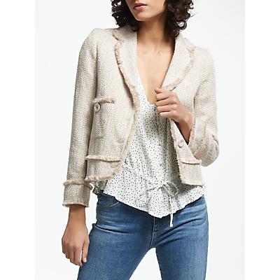 Helene For Denim Wardrobe Ava Boxy Jacket, Beige