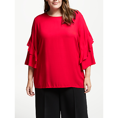 Image of JUNAROSE Lona Blouse, Chinese Red