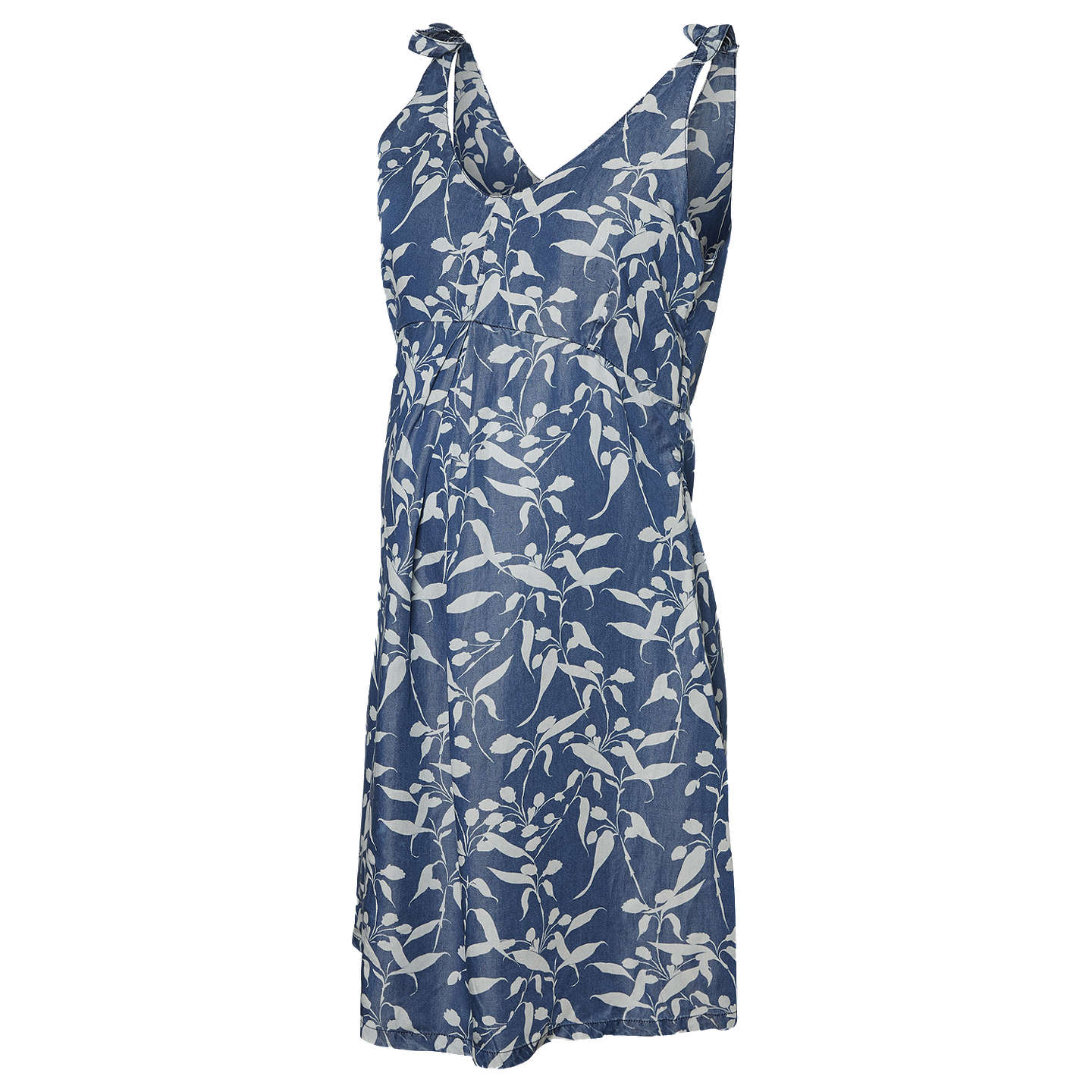 BuyMamalicious Juliana Floral Maternity Dress, Blue, XS Online at johnlewis.com