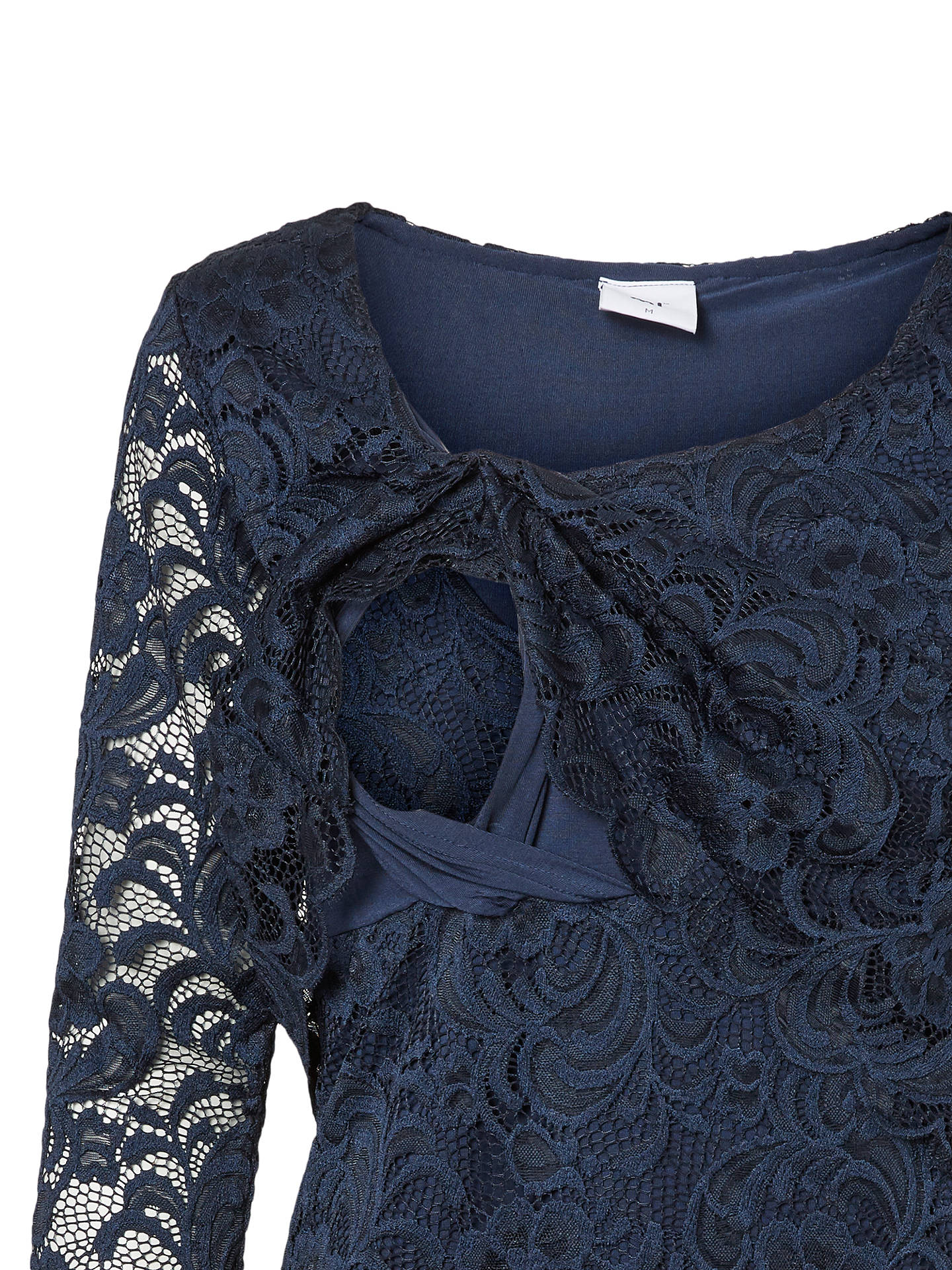 36a9ea4456b Buy Mamalicious Mivane June Lace Overlay Nursing Top, Navy, S Online at  johnlewis.